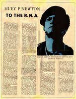 Centerfold from news article from Huey P. Newton