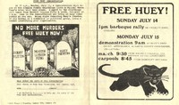 """Free Huey"" pamphlet"