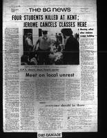 BG News, May 5, 1970, Kent State Shootings