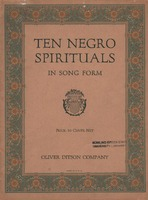 Songs from Ten Negro Spirituals