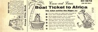 """Boat Ticket To Africa""/""Instant Nigger"" Bookmark/Advertisement from the American NAZI Party"