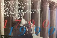 Bicentennial Calendar Commemorative Edition (Cover)