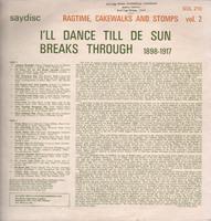 Dance Till De Sun Back